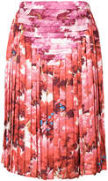 Marco De Vincenzo foliage print pleated skirt