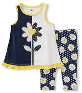 Kids Headquarters Baby Girls Baby Girls Two-Piece Floral Printed Tunic and Capris Set