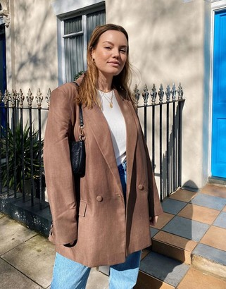 ASOS DESIGN perfect blazer in brown