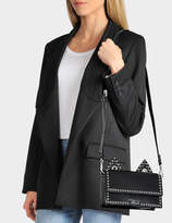 Karl Lagerfeld Rocky Choupette Shoulder Bag in Black Smooth Calf Leather