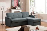 Baxton Studio Leicestershire Sectional Sofa, Gray