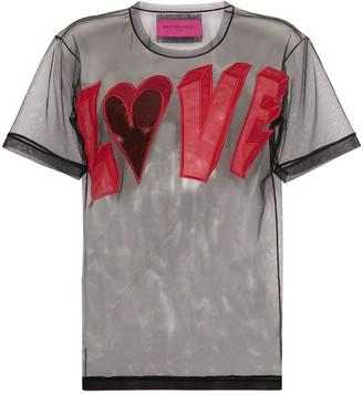 Viktor & Rolf love logo mesh T-shirt