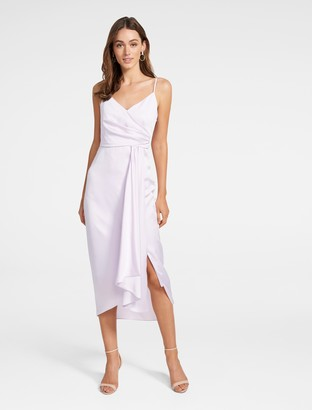 Forever New Bree Crossover Drape Dress - Lilac - 4