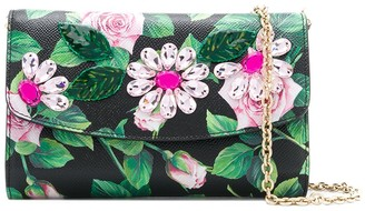 Dolce & Gabbana Tropical Rose crystal-embellished clutch