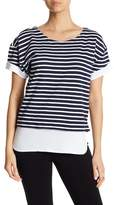 Andrew Marc Striped Contrast Tee