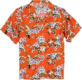 Urban Boundaries Island Collection Men's Short Sleeve Rayon Hawaiian Tropical Patterns Shirts (Black Pink,)