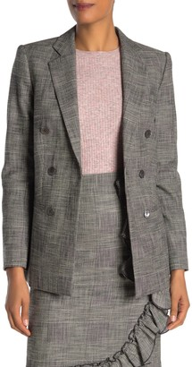 Rebecca Taylor Plaid Double Breasted Blazer