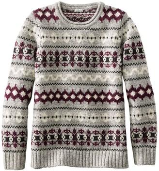 L.L. Bean Women's Bean's Classic Ragg Wool Sweater, Crewneck Vintage Fair Isle