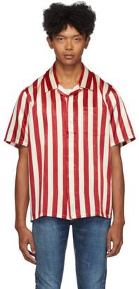 Visvim Red and Off-White Free Edge Shirt