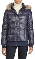 Lauren Ralph Lauren Quilted Jacket with Faux Fur Trim
