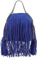 Stella McCartney Falabella Mini Fringe Tote Bag, Blue Bird