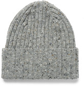 Drake's - Ribbed Mélange Lambswool Beanie