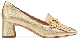 Kate Spade Yarrow Fringe Metallic Leather Loafers
