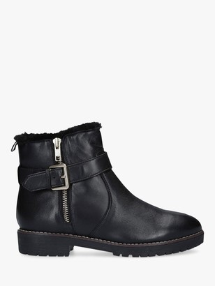Carvela Scout Buckle Ankle Boots, Black