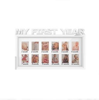 """My First Year Collage Baby Picture Frame with 8 Openings by Lavish Home, White, 11"""" x 18.6"""" x 0.75"""""""