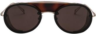 Max Mara Briseis Slim Aviator Sunglasses