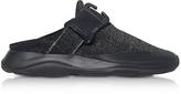 Christopher Kane Tonal Black & Silver Fabric Slide Sneaker
