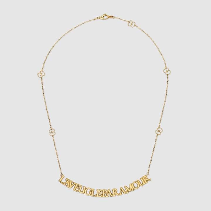 """Gucci """"L'Aveugle Par Amour"""" necklace"""