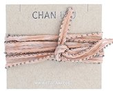Chan Luu Women's Pink Floral Chiffon Beaded Necklace of Length 106.68cm