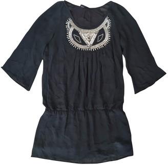 SET Black Silk Dress for Women