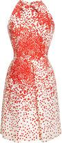 Giambattista Valli Printed Silk-Shantung Pleat-Front Dress