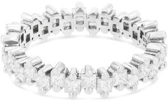 Suzanne Kalan White Gold and Diamond Fireworks Thin Eternity Band Ring (Size 6.5)