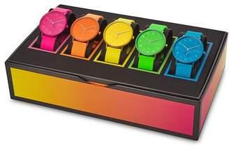 Skagen Aaren Multicolored Silicone Strap Watch Colletion, 41mm, Set of 5