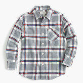 J.Crew Kids' brushed twill shirt in heather plaid