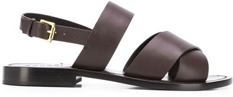 Aspesi Crossover Strap Sandals