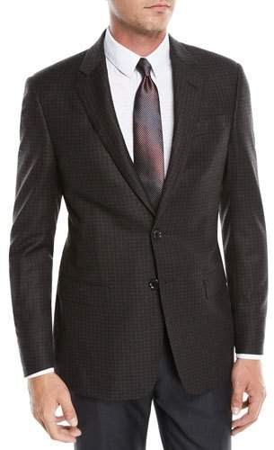 Giorgio Armani Men's Wool Melange Two-Button Sport Coat Jacket