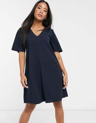 JDY Kora short sleeve swing dress-Navy