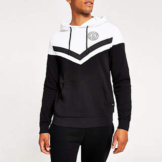 River Island Only and Sons black colour block hoodie