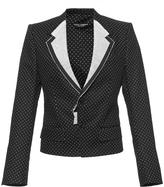 Dolce & Gabbana Contrast Stitch Polka Dot Blazer