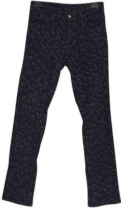Louis Vuitton Blue Cotton Trousers for Women