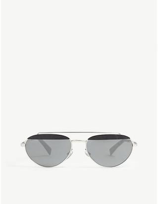 Alain Mikli Elicot mirrored oval-frame sunglasses