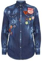 DSQUARED2 Western Long Sleeve Badge Shirt