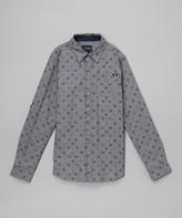 Lucky Brand Heather Blue Button-Up Shirt - Toddler
