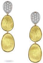 Marco Bicego Lunaria Diamond Three-Drop Earrings