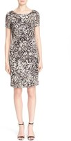 St. John Women's Floral Burnout Dress