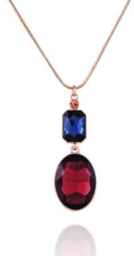 T Tahari Mixed Gems Pendant Necklace