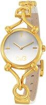 Dolce & Gabbana Flock Logo Strap Silver Dial Women's Watch #DW0500
