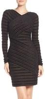 BCBGMAXAZRIA Women's Velour Stripe Dress