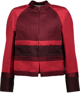 Valentino Two-tone silk-satin jacket