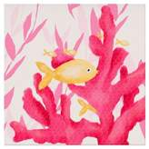 Oopsy Daisy Fine Art For Kids Pink Coral and Little Fish Canvas Wall Art