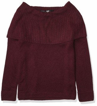 Kensie Women's Tissue Knit Sweater with Cowl Neck