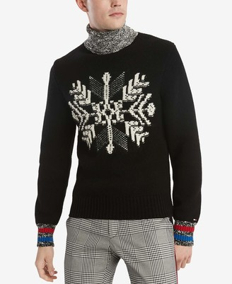 Tommy Hilfiger Men's Snowflake Cotton Turtle Neck Sweater