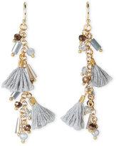 pannee Grey Tassel Earrings