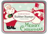 Cavallini & Co. 3-Assorted Rubber Stamps Sets, Christmas Santas
