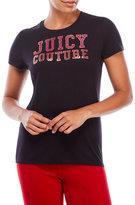 Juicy Couture Black Label Varsity Glitter Tee