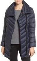 Sam Edelman Women's Asymmetrical Chevron Quilted Down Coat